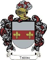 Escudo del apellido Tablas