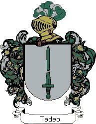 Escudo del apellido Tadeo
