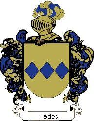 Escudo del apellido Tades