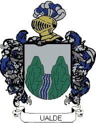 Escudo del apellido Ualde
