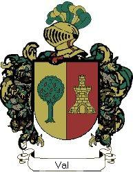 Escudo del apellido Val