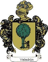 Escudo del apellido Valadrón