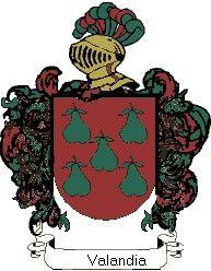Escudo del apellido Valandia