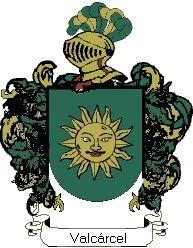 Escudo del apellido Valcárcel