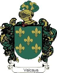 Escudo del apellido Valcaya