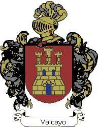 Escudo del apellido Valcayo