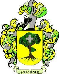 Escudo del apellido Valcazar