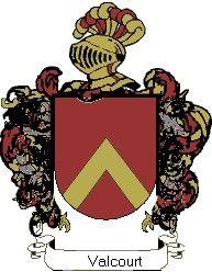 Escudo del apellido Valcourt