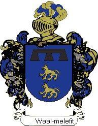 Escudo del apellido Waal-melefit