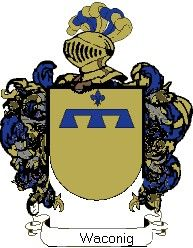 Escudo del apellido Waconig