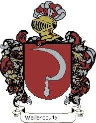 Escudo del apellido Waillancourts