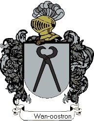 Escudo del apellido Wan-oostron