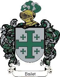 Escudo del apellido Bailet
