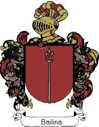 Escudo del apellido Bailina