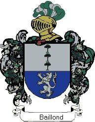 Escudo del apellido Baillond