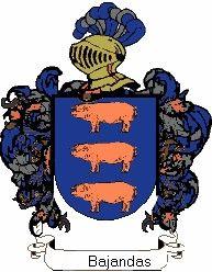 Escudo del apellido Bajandas