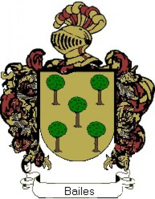 Escudo del apellido Bailes