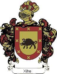 Escudo del apellido Xifre