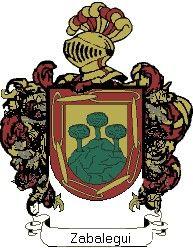 Escudo del apellido Zabalegui