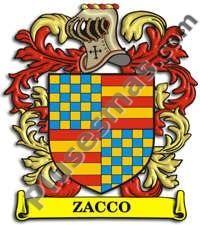 Escudo del apellido Zacco