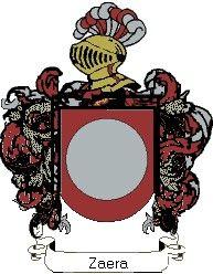 Escudo del apellido Zaera