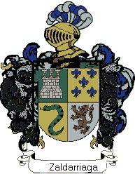 Escudo del apellido Zaldarriaga