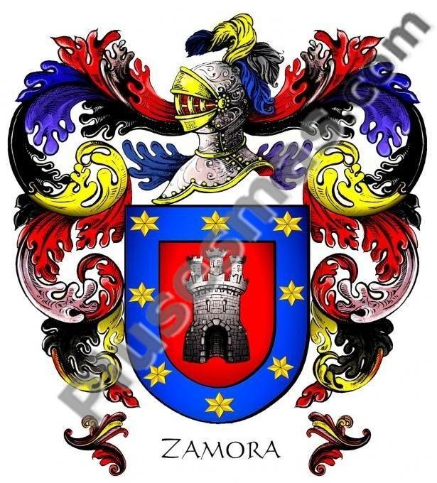 Escudo del apellido Zamora