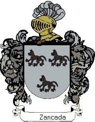 Escudo del apellido Zancada