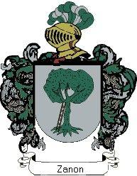 Escudo del apellido Zanon