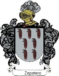 Escudo del apellido Zapatero