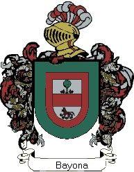 Escudo del apellido Bayona