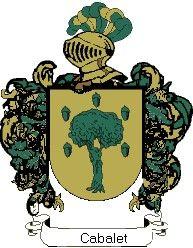 Escudo del apellido Cabalet
