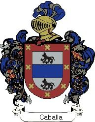 Escudo del apellido Caballa