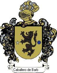 Escudo del apellido Caballero de barbas