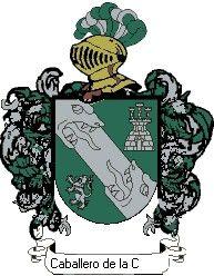 Escudo del apellido Caballero de la concha