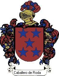 Escudo del apellido Caballero de rodas