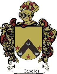 Escudo del apellido Caballos