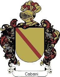 Escudo del apellido Cabani