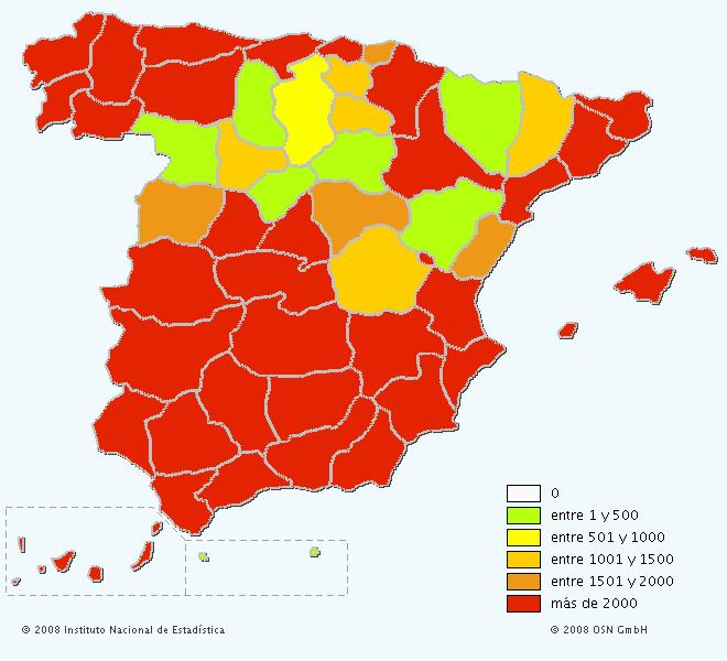 Mapa del apellido Díaz