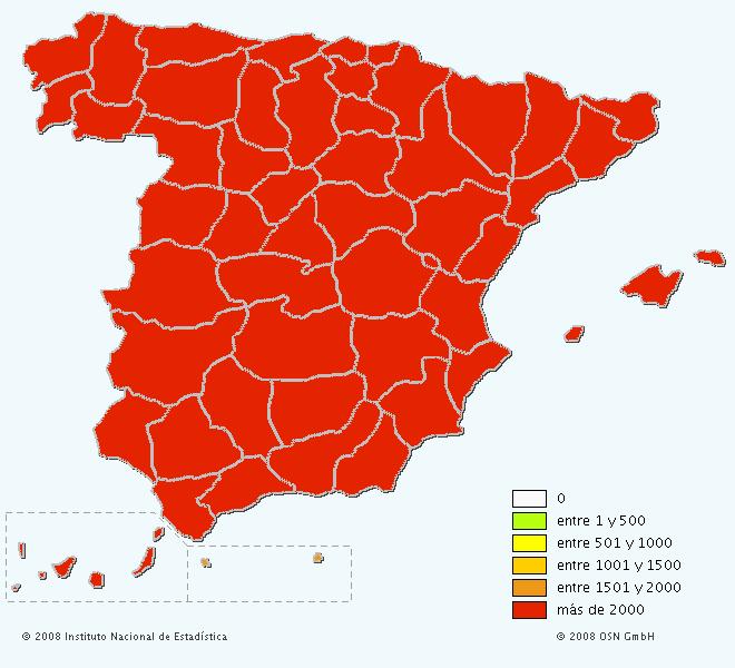 Mapa del apellido García