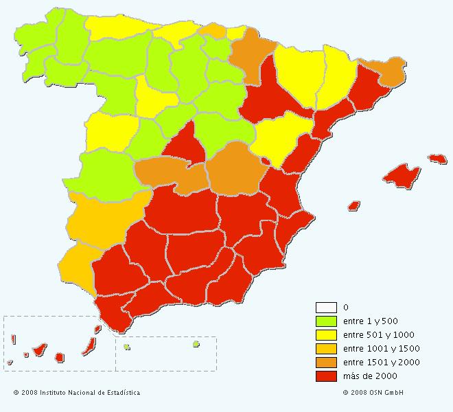 Mapa del apellido Navarro