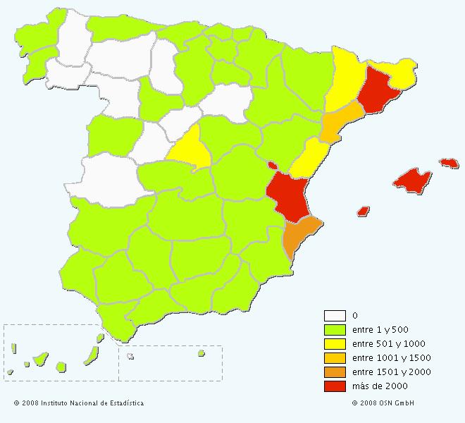 Mapa del apellido Pons