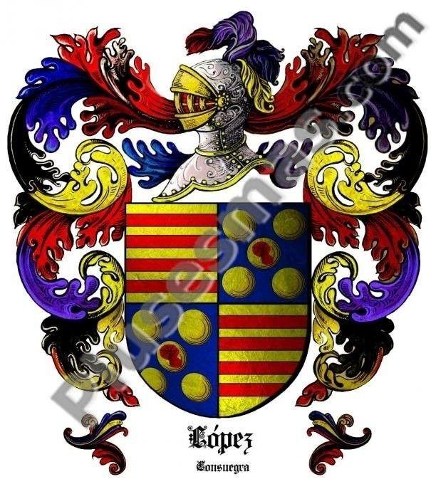 Escudo del apellido López (Consuegra)