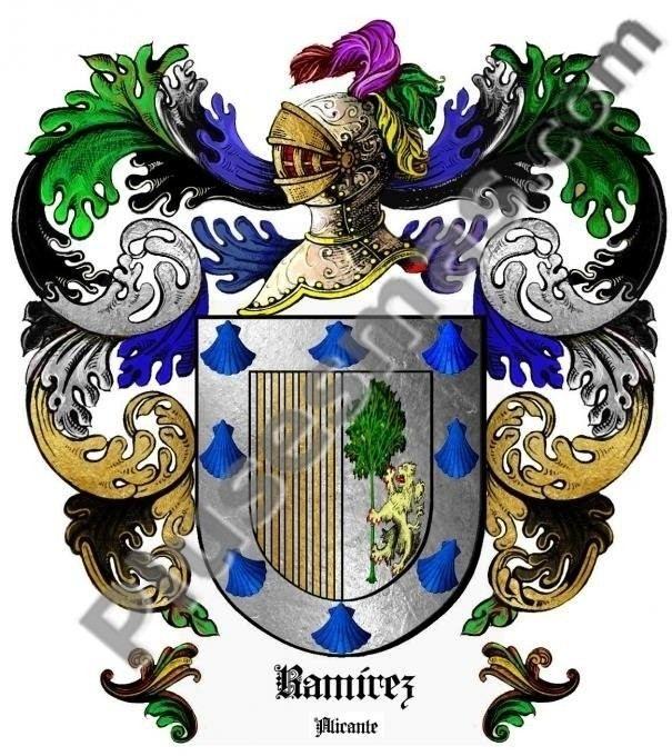 Escudo del apellido Ramírez (Alicante)