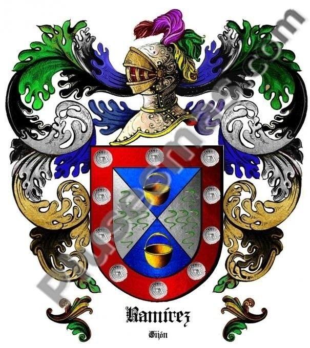 Escudo del apellido Ramírez (Gijón)