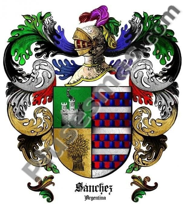 Escudo del apellido Sánchez