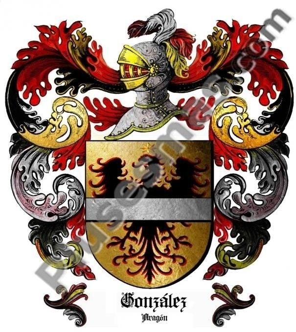 Escudo del apellido González (Aragón)
