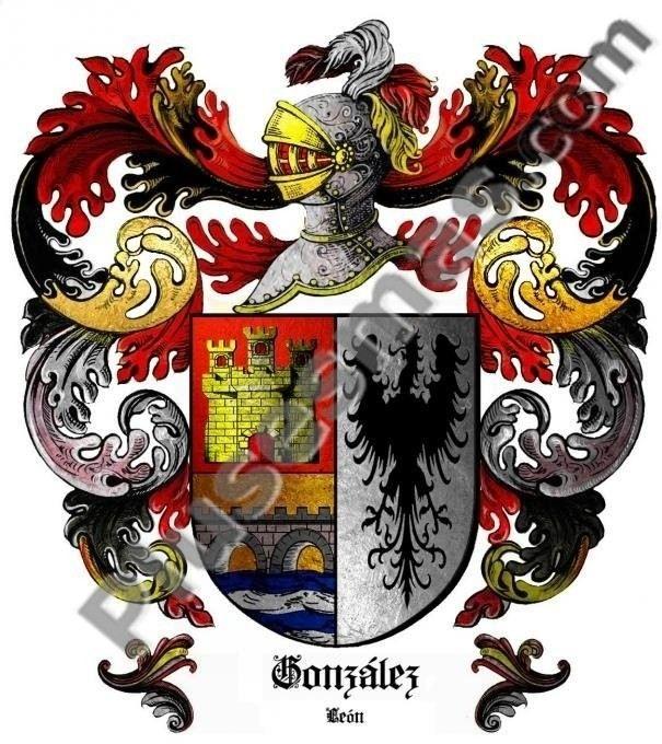 Escudo del apellido González (León)