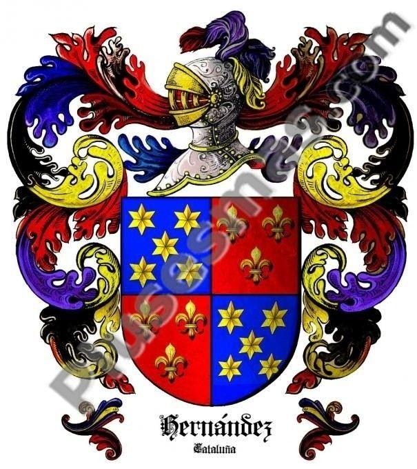 Escudo del apellido Hernández (Cataluña)