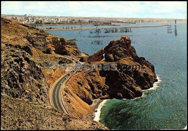 Carretera almería - málaga. al fondo almería.
